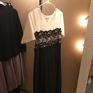 White/Black Formal Evening dress
